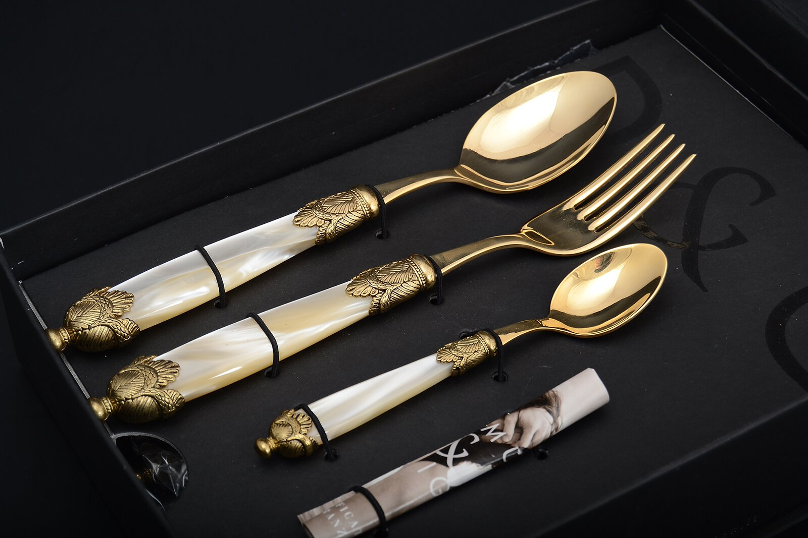 Набор столовых приборов SIENA ANTIQUE GOLD CHAMPAGNE GOLD от Domus