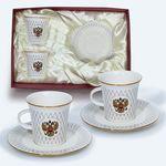 Подарочный чайный набор на 2 персоны с российским гербом от Bohemia