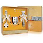 Набор детского серебра МИШУТКА в футляре от Argenta, 3 предмета (поильник, ложка, погремушка)