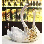 Статуэтка керамическая ПАРА ЛЕБЕДЕЙ GIARDINO от Migliore с кристаллами Swarovski