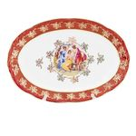 Блюдо овальное 38 см ФРЕДЕРИКА МАДОННА, КРАСНАЯ расцветка от Carlsbad